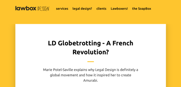 Marie Potel Saville is in Law Box Design